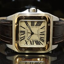 Rolex 2007 Cartier Santos 100, Steel & Rose Gold, Box...