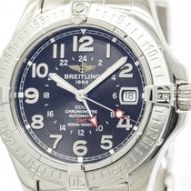 Breitling Polished Breitling Colt Gmt Steel Automatic Mens...