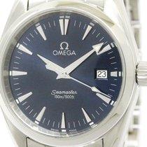 Omega Polished Omega Seamaster Aqua Terra Steel Quartz Mens...