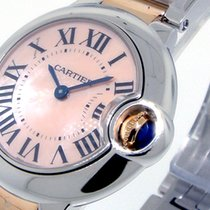Cartier Ballon Bleu W2bb0009 28 Mm 18k Pink Gold Steel Pink...
