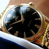 Omega Seamaster pink rose gold hammer automatic black dial