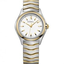 Ebel Wave Lady Steel Gold Case, White Dial, Quartz