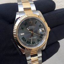 Rolex DateJust II Two-Tone Grey Roman