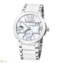 Uylsse Nardin Executive Dual Time Silver Dial Diamonds Bezel...