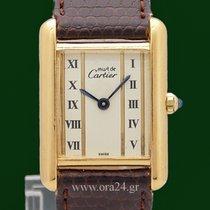 Cartier Must de Cartier Tank 925 Silver 18k Yellow Gold Plated