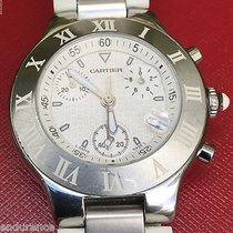 Cartier Must 21 Chronoscaph Mens 38 Mm Swiss Quartz Watch Ref...