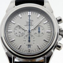 Omega DeVille Co-Axial Chronograph in Steel with Leather Strap