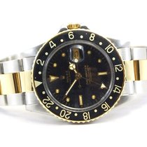 Rolex GMT-Master Two Tone 18kt Yellow Gold/SS Black Dial-16753