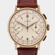 Longines Rare Vintage 30CH Flyback Chrono / 36.5 mm Pink Gold...