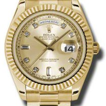 Rolex Day-Date II President Yellow Gold - Fluted Bezel 218238...