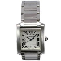 Cartier Tank Francaise W51002Q3 with Silver Guilloche Dial...