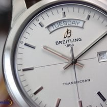 Breitling Men's Transocean Day & Date Steel on Leather...