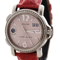 Ulysse Nardin Dual Time Pink Dial with DIAMOND BEZEL &...