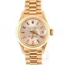 Rolex Ladies 18K Yellow Gold President - Silver Stick Dial -...