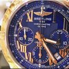 Breitling Chronomat 44 Riviera blu dial Steel and 18K rose...
