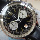 Breitling 1973 RARE 7806S NAVITIMER RED DATE BOX PAPERS