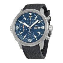 IWC Aquatimer Chronograph Blue Dial Black Rubber Men's Watch