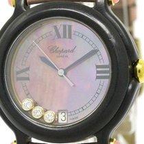Chopard Be Happy Diamond Pink Mop Dial Plastic Quartz Ladies...