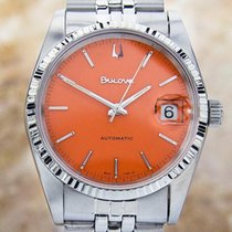 Bulova Sporty Automatic Rare Vintage Mens Stainless Steel...