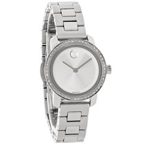 Movado Bold Ladies Diamond Silver Dial Swiss Quartz Watch 3600214