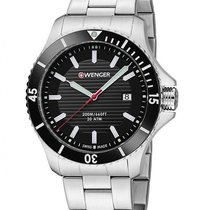 Wenger Sea Force Mens Dive Watch - Black Dial - Bracelet -...