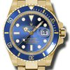 Rolex SUBMARINER YELLOW GOLD WITH BLUE CERACHROM BEZEL