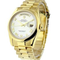 Rolex Used Men's Yellow Gold President with MOP Dial 118208