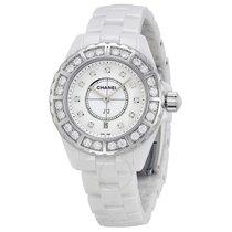 Chanel J12 Diamond Bezel White Ceramic Ladies Watch