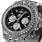Breitling Mens Luxury Breitling Watch A44355 Black Dial 15ct...