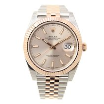 Rolex Datejust 18k Rose Gold And Steel Pink Automatic 126331PK_J