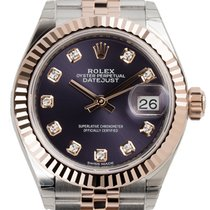 Rolex Lady-Datejust 28 Steel and Everose Gold Aubergine Dial...