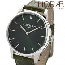 Locman Uomo collezione 1960 0251V03-00GRNKPG pelle verde
