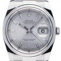 Rolex Datejust Stahl Automatik Armband Oyster 36mm Ref.116200...