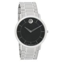 Movado TC Series Mens Black Museum Dial Swiss Quartz Watch...