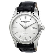 Frederique Constant Index Automatic Silver Dial Black Leather...
