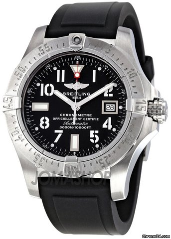 Breitling Avenger Seawolf Black Dial Automatic Mens Watch A1733010-B906BKPT