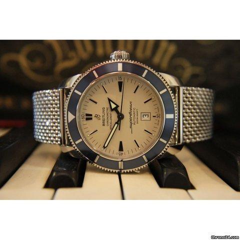 Breitling Superocean Heritage 46 Silver Dial Mens Watch Model Ref: A1732016-G642SS. 2012 model - Unworn
