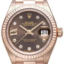 Rolex Lady-Datejust 28 18 kt Everose-Gold 279175 Choco DIA