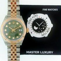 Rolex 279171 Datejust Green Diam Dial Jub Brac SS/RG