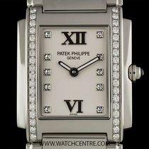 Patek Philippe S/S Timeless White Dial Diamond Set Ladies...