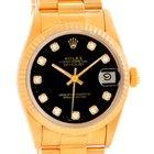 Rolex President Datejust Midsize 18k Gold Diamond Watch 68278