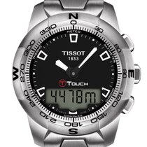 Tissot T-Touch Stainless Steel Gent Black Dial 42,7mm T