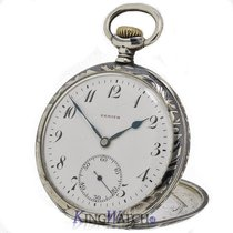 Zenith Pocket Watch Niello Silver Case