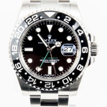 Rolex GMT Master II Black Bezel Steel Black Dial Mens 116710 NEW