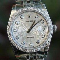 Rolex Midsize Mens Ladies Stainless Steel Datejust Jubilee...
