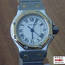 Cartier Santos Ronde Octagon Stahl / 18k Gold revisioniert
