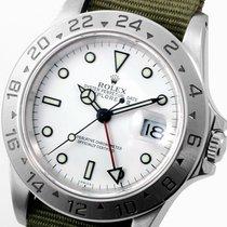 Rolex 40mm SS Explorer ll White Dial Olive NATO Strap  - 16570