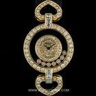 Chopard 18k Yellow Gold Heart Shaped Lugs Happy Diamond...