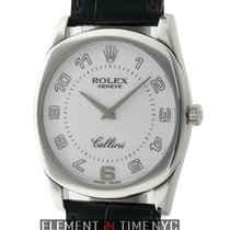 Rolex Cellini Danaos 18k White Gold 33mm White Dial D Serial...