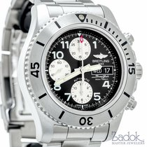Breitling SuperOcean Steelfish Chronograph Diver Watch Black...